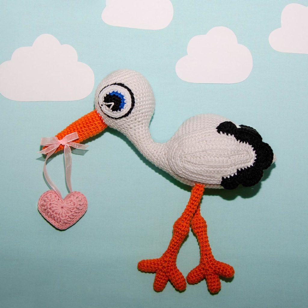 hæklet stork