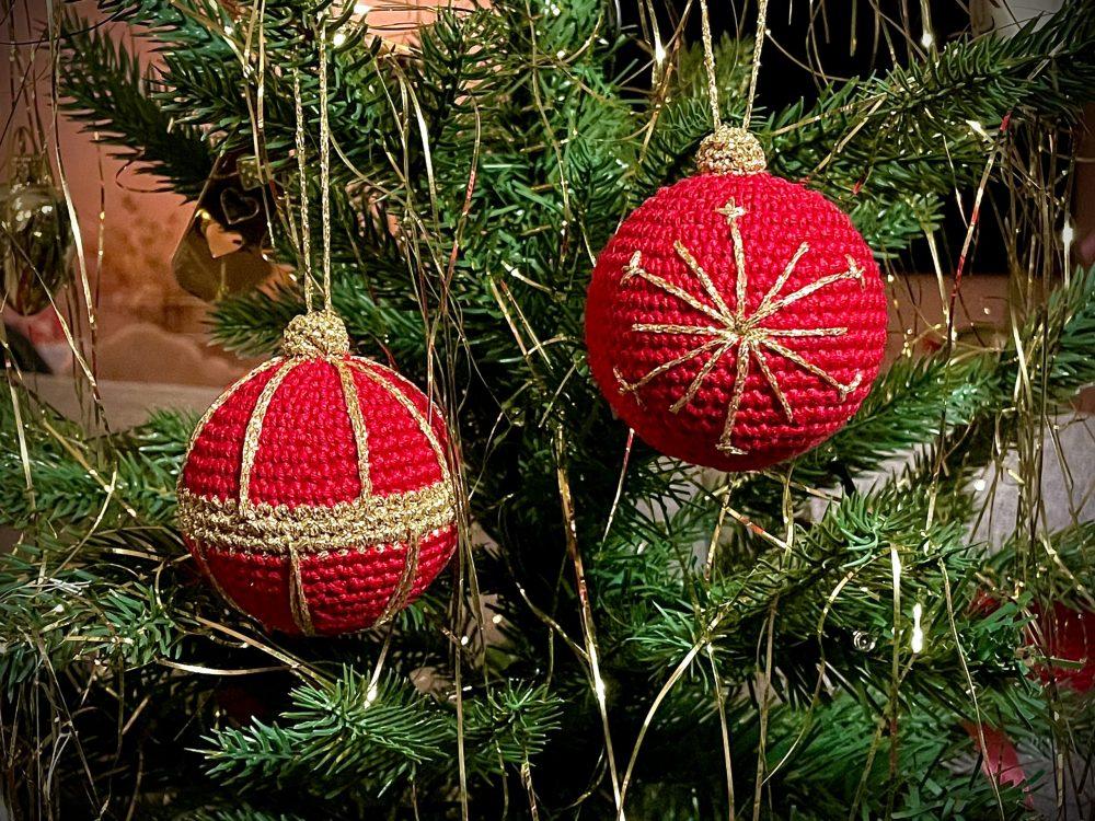 hæklede julekugler